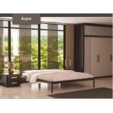 Кровать модель Аура с мет. основанием